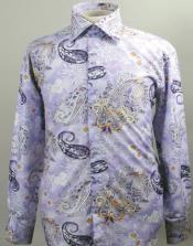 AC-477 Fancy Polyester Dress Fashion Shirt With Button Cuff