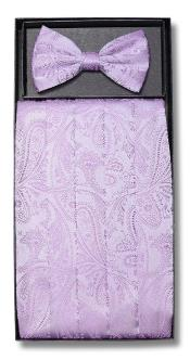 Mens Paisley Design Lavender Polyester