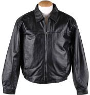 RM1640 Zip-Out Liner Leather JD Bomber Jacket Black Available