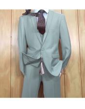 JSM-5629 Mens Light Blue 1 button style Peak Lapel