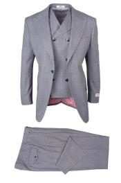 SM4743 Mens 1 Button San Giovesse Light Gray Birdseye