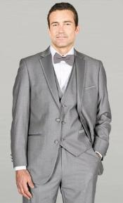 MAV24 Light Grey ~ Gray Framed Notch Lapel with