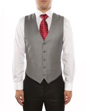 Mens 5 Button Light Grey