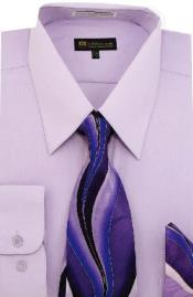 SW908 Milano Moda Classic Cotton Dress Shirt with Ties