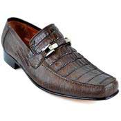Brown Dress Shoe Gator and