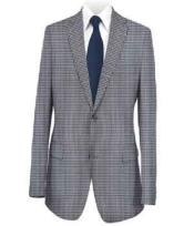 Sport Coat Medium Blue Checked