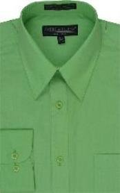 LK111 Dress Shirt lime mint Green ~ Apple ~