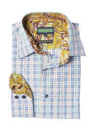 Style2614-66 Inserch Brand Brand Multi Color Plaid Cotton Shirt
