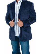 Navy Blue Shade Velvet Blazer
