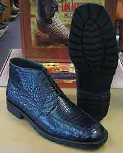 AC-884 Genuine All Crocodile Cai Navy Blue Shade Ankle