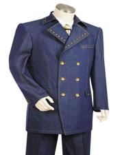 Navy 1940s mens Suits Style
