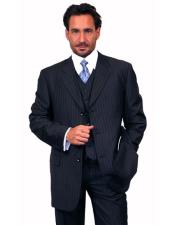 JSM-4688 Alberto Nardoni 3 Button Vested Suits 100% Wool