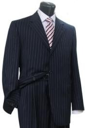 Conservative Navy Blue Shade Pinstripe