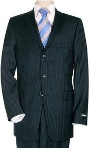 Small Navy Blue Shade Pinstripe