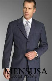 ZL5 Dark Navy With Small Pinstripe Superior Fabric 140s