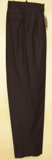 FE621 long rise big leg slacks Navy wide leg