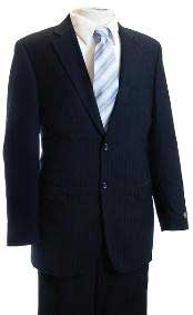 FG4578 Navy Tone/Tone Pinstripe Designer affordable suit Online Sale