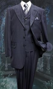 BW6217 3 Piece Solid Fashion 1940s Mens Suits Style