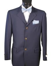 JSM-5405 Mens Single breasted Navy Blazer 100% Wool 3