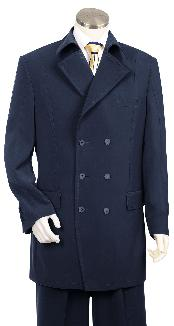 HK5647 Luxurious Navy Fashion Long length Zoot Suit For