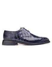 EK17 Belvedere Mens  Genuine Crocodile Navy Leather Lining