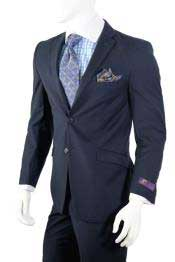 AC-934 Navy Slim narrow Style Fit Suit Center Vent