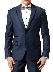 KA0114 Navy ~ Midnight blue Fashion Designer Wedding Groom