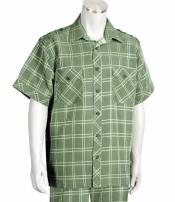 Mens Olive Button Front 2