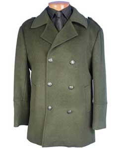 SS-158 Peacoat double breasted coat Olive Green