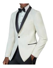 mens One Button Tuxedo Shawl