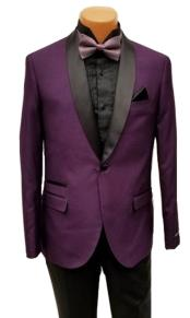 mens One Button Shawl Lapel