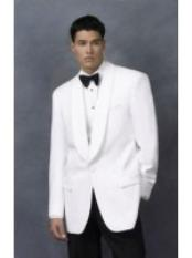 NG7820 Dinner Jacket in White Shawl Collar 1 Button