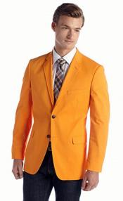 RM1295 Saddlebred Single-breasted Classic-Fit Cotton Oxford Bright Orange Blazer