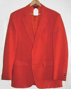 ORG8912 Mans Bright Orange 1970s Sport Coat
