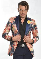 Mens floral blazer