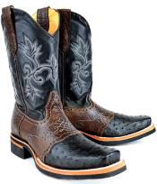 MK997 King Exotic Boots Ostrich Full Quill Skin Rodeo