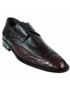 Brown Dress Shoe Ostrich Full