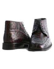 JSM-3258 Mens Los Altos Genuine Ostrich Stylish Black Cherry
