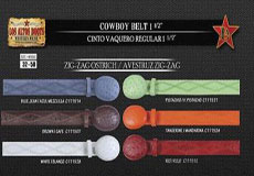 OP6676 Genuine Ostrich Zig-Zag Cowboy Belt 15 Width
