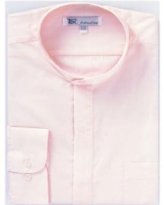 N-73A Band Collar Dress Shirts Pink