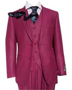 SM445 Pink Slim narrow Style Fit Three Piece Vested