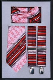 SK72 Suspender Tie Bow Tie ~ Bowtie and Hanky