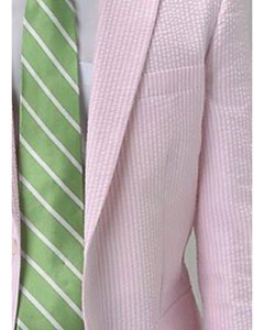 PN_I68 Light Pink Summer Cheap priced Mens Seersucker Suit
