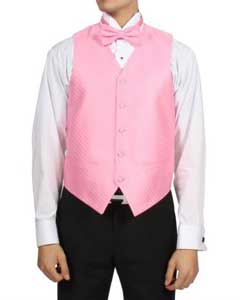 TR53 Light Pink Rose 4-Piece Vest Set