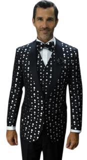 Mens-Polka-Dots-Black-Jacket