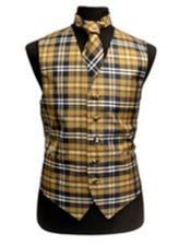 JSM-3286 Mens Slim Fit Polyester Plaid Design Dress Tuxedo