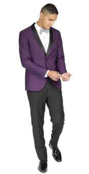 Mens Slim Fit Purple 1