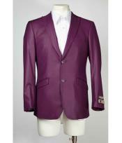 SM649 2 Button Style Slim narrow Style Fit Purple