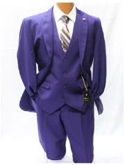 JSM-1893 Mens Falcone Vett Classic Fit Solid Vested Purple