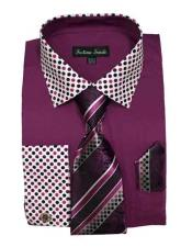 Mens Cotton Blend Rose Purple